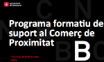 PLA DE FORMACIÓ DEL COMERÇ DE PROXIMITAT