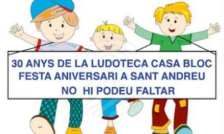 FESTA ANIVERSARI LUDOTECA CASA BLOC