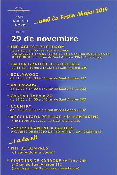 CANVI DE DIA DE LES ACTIVITATS FESTA 6 DESEMBRE 2014