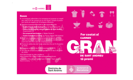 Fer costat al carrer Gran de Sant Andreu té premi