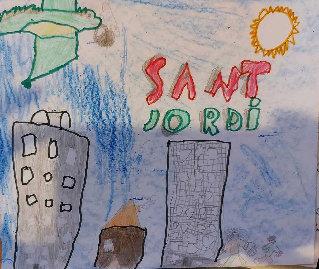 Guanyadors dels dibuixos Sant Jordi 2021 a Sant Andreu Nord